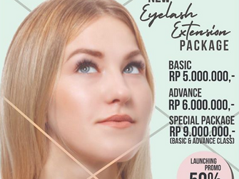 New in Puspita Martha, eyelash extension package!
