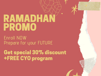 Ramadhan Promo, enroll NOW!