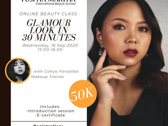 Glamour Look in 30 Minutes Online Beauty Class