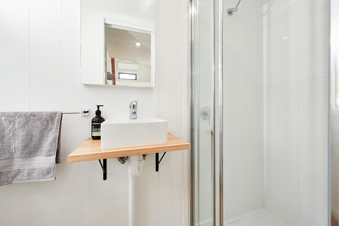 bathroom full shower tiled