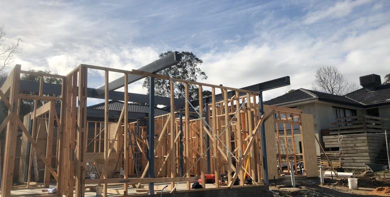 frame steel install