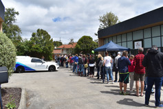 A line to get into our first open day