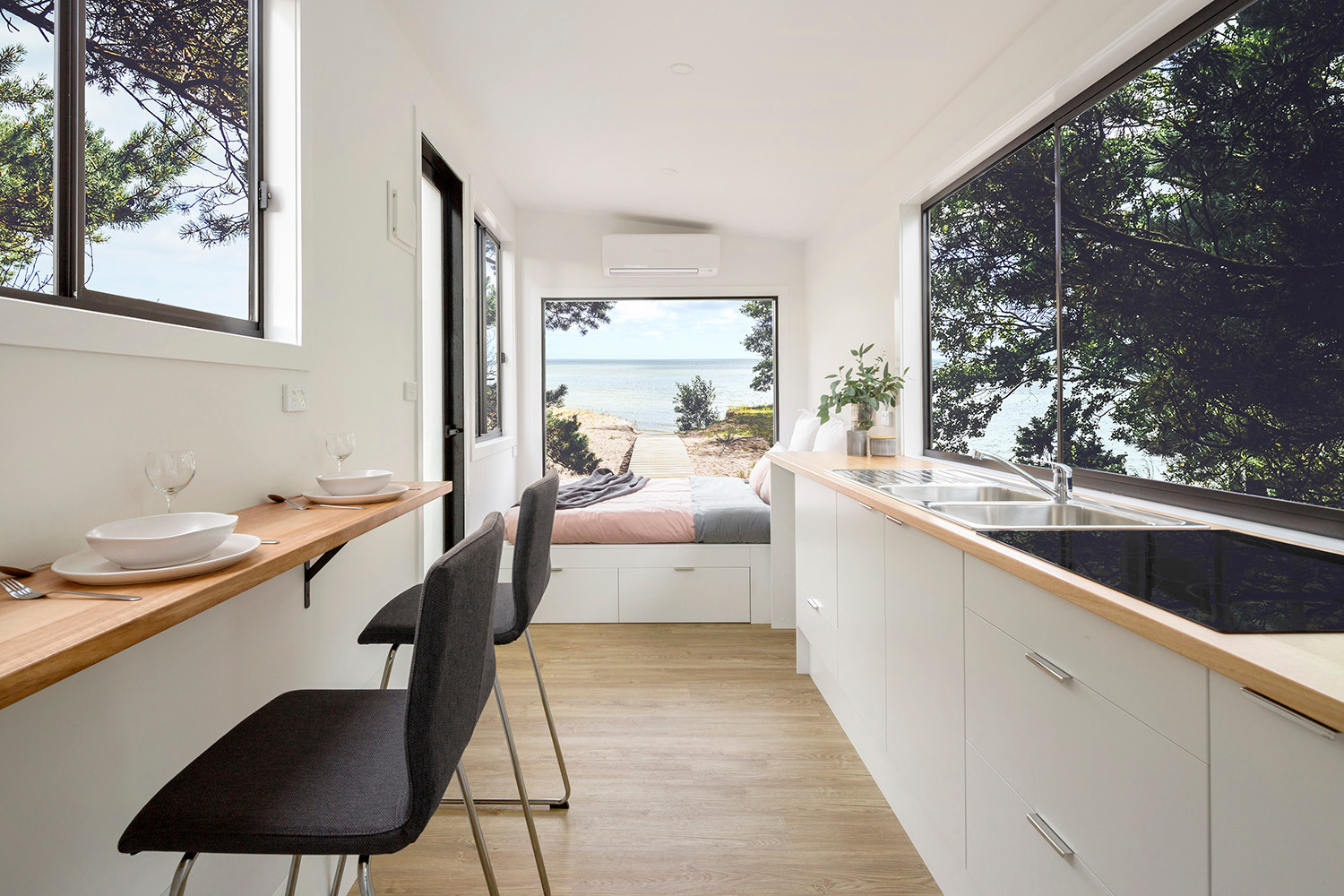 open space living kitchen