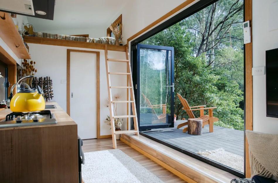 interior eureka model tiny house kitchen