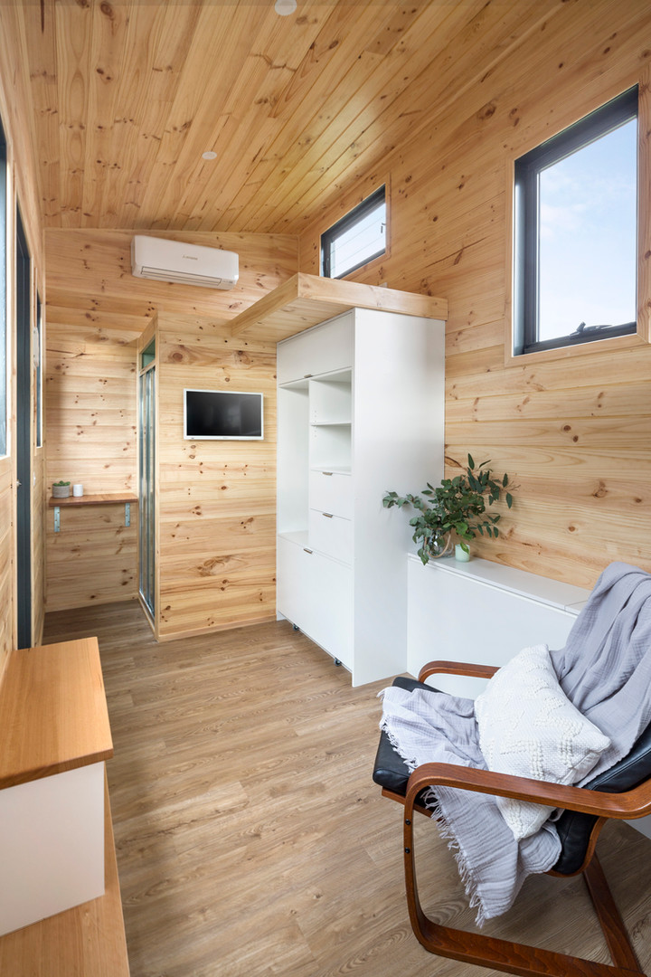 interior timber look exposed