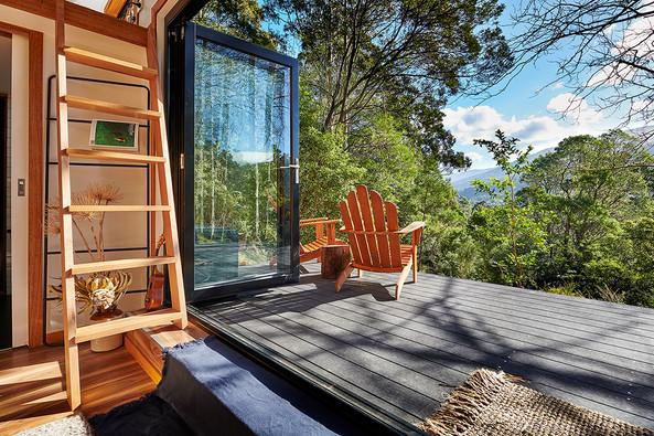 bi-fold doors opening to nature