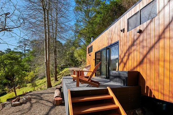 deck onto tiny house relax