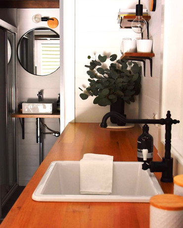sink nice view of table