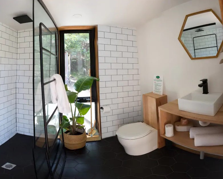 bathroom tiny shower full size