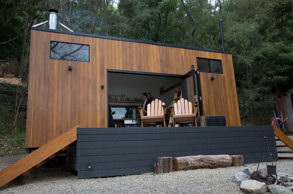 seeing tiny house with deck