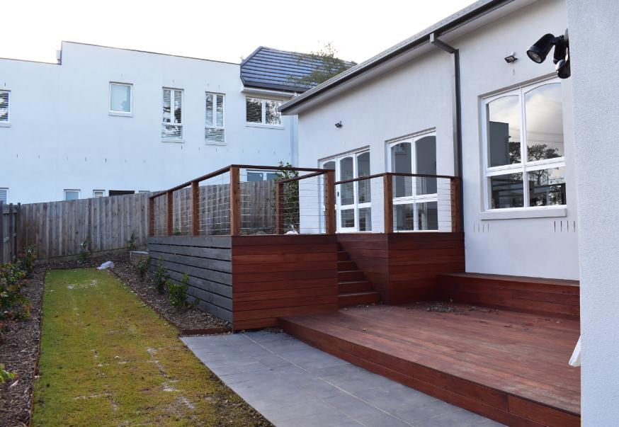 deck finished railing