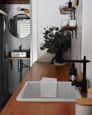 sink with leaves