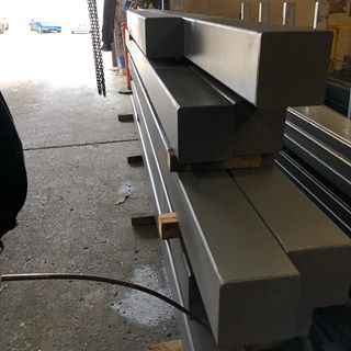 delivery of steel rhs columns