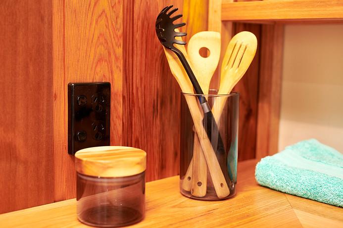 utensils in kitchen