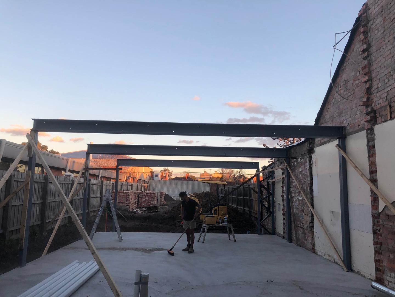 beams supporting preperation