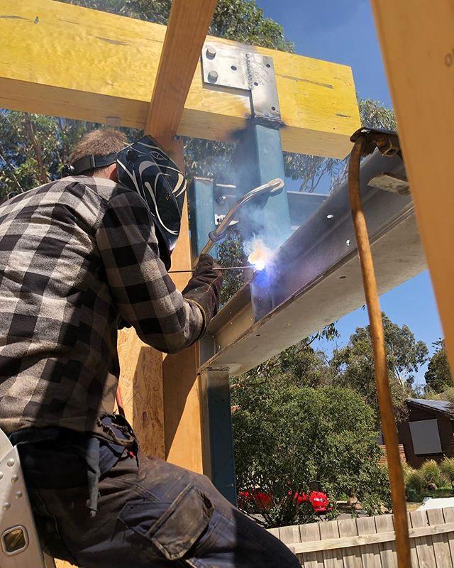 welding up structural steel