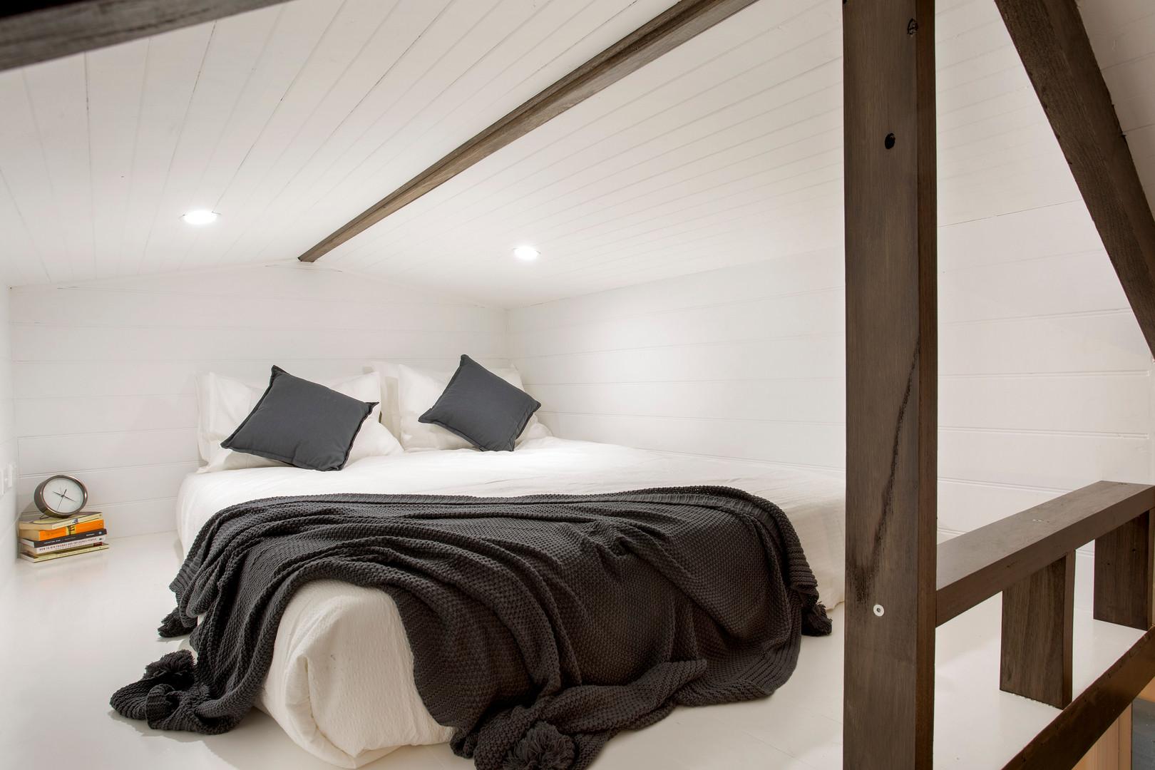 inside upstairs balcony mattress