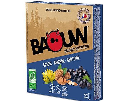 BAOUW I Pack 3 Barres Énergétiques Bio CASSIS – AMANDE – GENTIANE