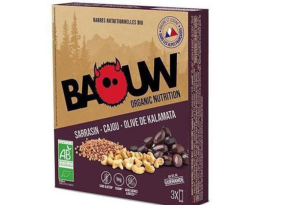 BAOUW I Pack 3 Barres Bio SARRASIN-CAJOU-OLIVE DE KALAMATA