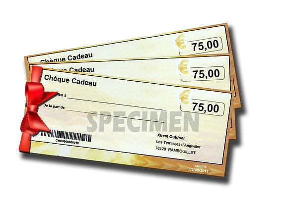 CHEQUE CADEAU 75 euros
