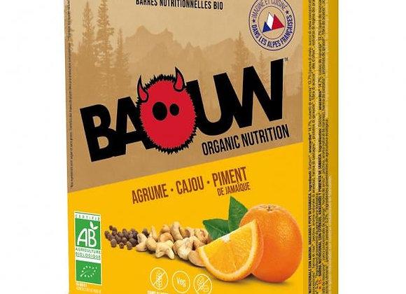 BAOUW I Pack 3 Barres énergétiques Bio AGRUME – CAJOU – PIMENT de JAMAIQUE