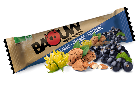 BAOUW I Barre Énergétique Bio CASSIS – AMANDE – GENTIANE