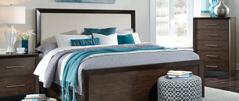 King-Size Upholstered Bed