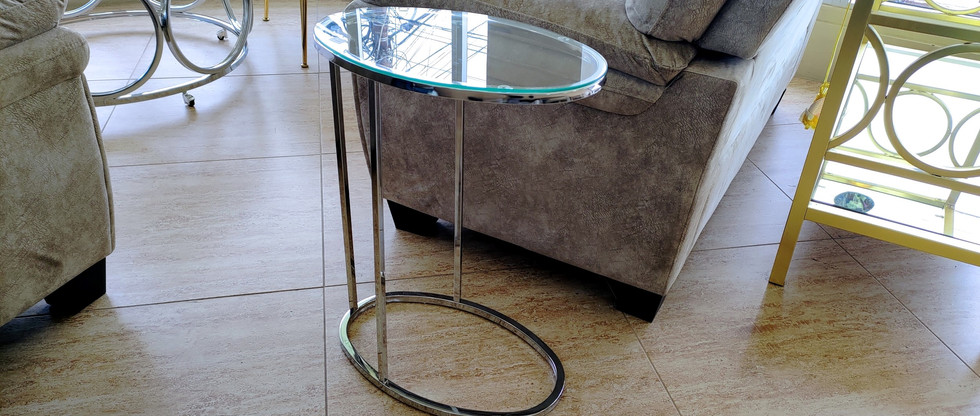 Oval Snack Table