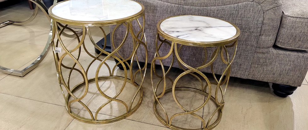 Marble Top Accent Tables – Set of 2