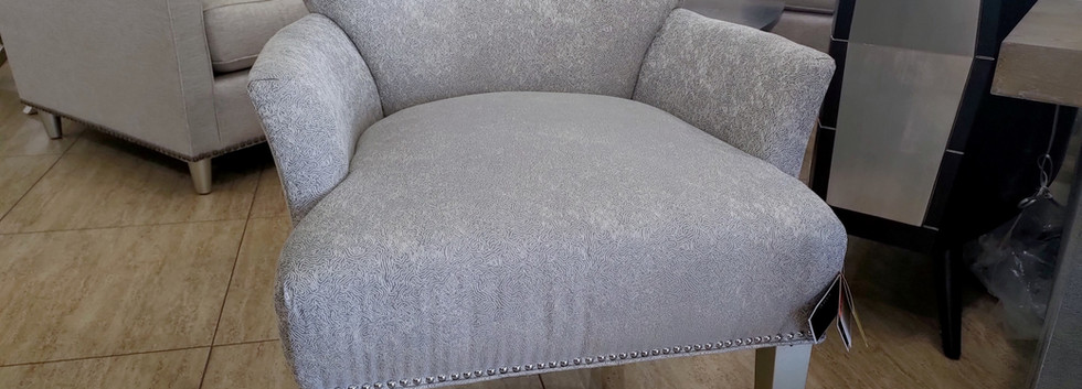 Accent Chair with Diamante Buttons