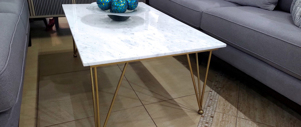 Marble-Top Cocktail Table