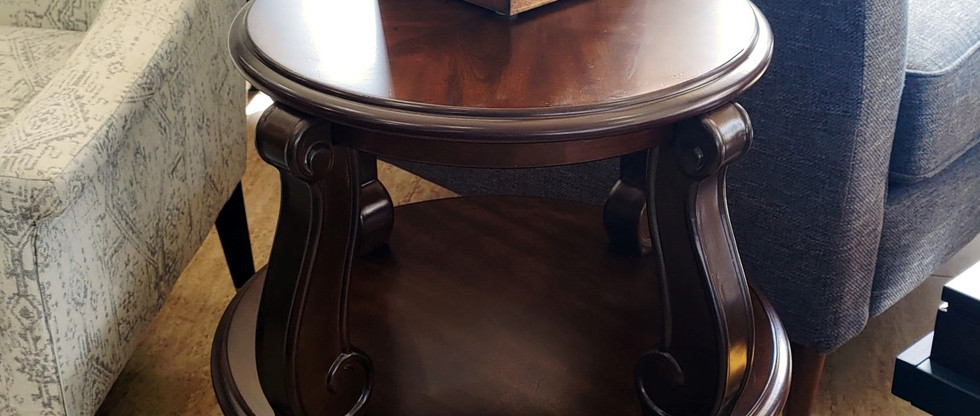 2-Tiered Round End Table