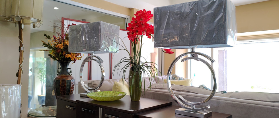 Pair of Contemporary Metal Table Lamps