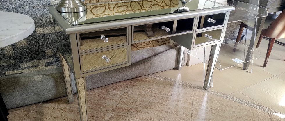 Mirrored Home Office Writing Desk