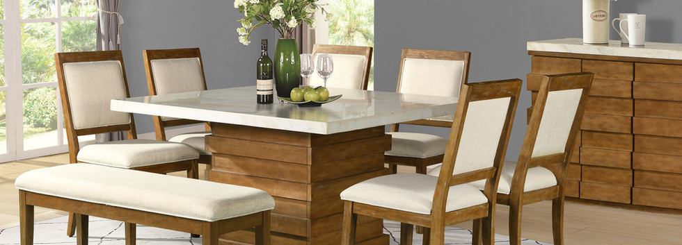 8-Piece Marble Top Dining Set