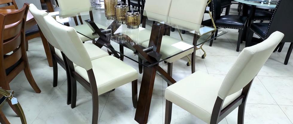7-Piece Glass Top Dining Set