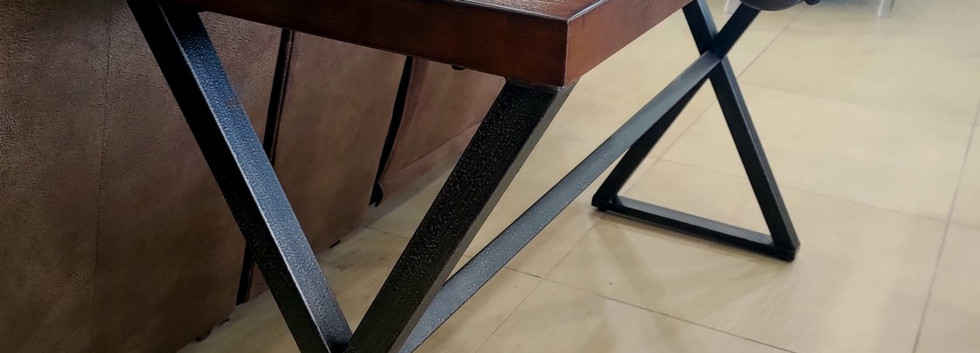 Wood and Metal Sofa Table … plus Cute Bunnies!