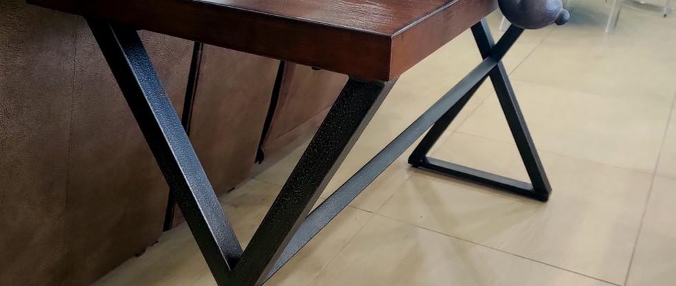Wood and Metal Sofa Table … plus Cute Bunnies!