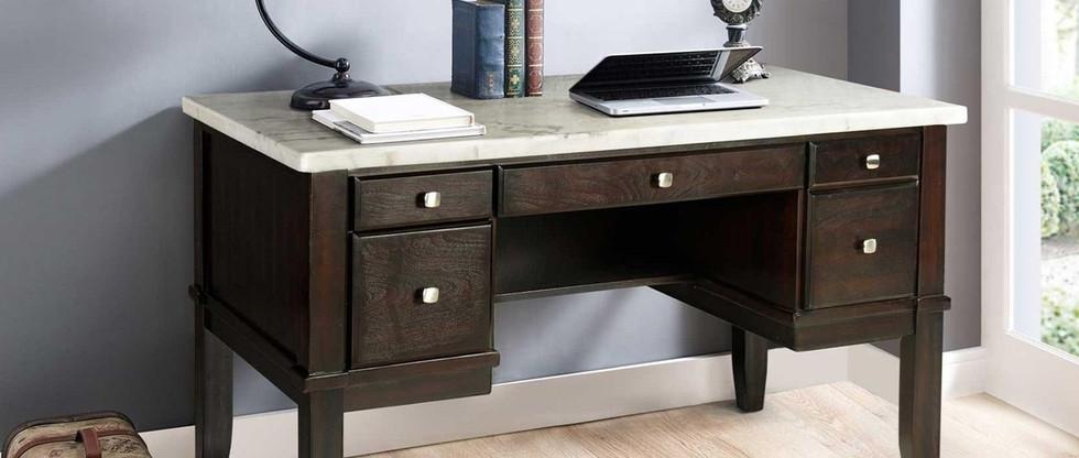 White Marble Top Office Desk