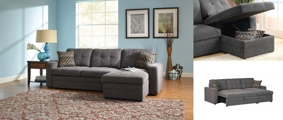 Sofa Chaise with Pull-Out Sleeper
