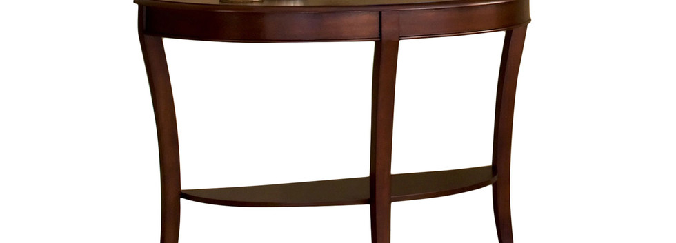 Traditional Curved-Top Sofa Table