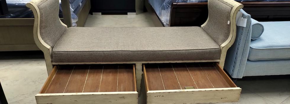 Upholstered Wooden Bench
