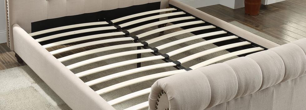 Lovely King Upholstered Bed