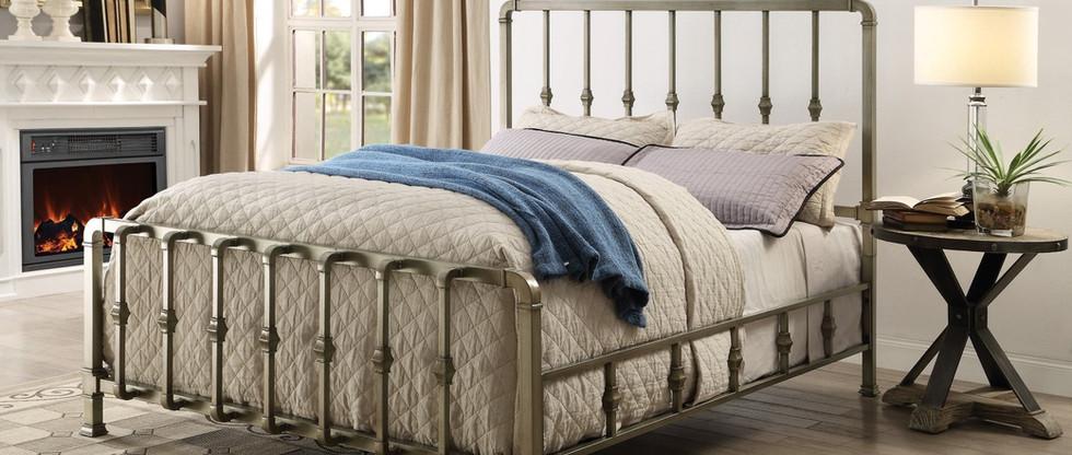 Queen-Size Steel Bed