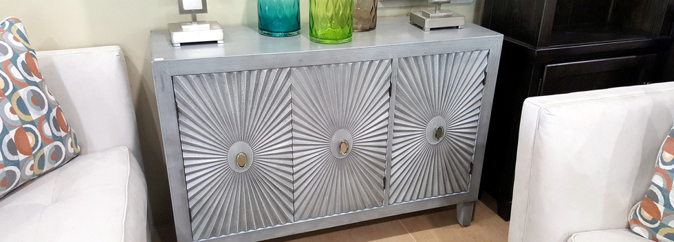 Cabinet with Starburst Door Panels