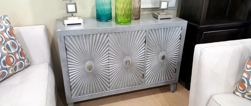 Cabinet with Starburst Door Panels