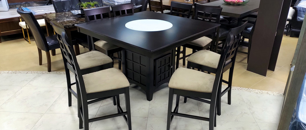 9-Piece Counter Height Dining Set