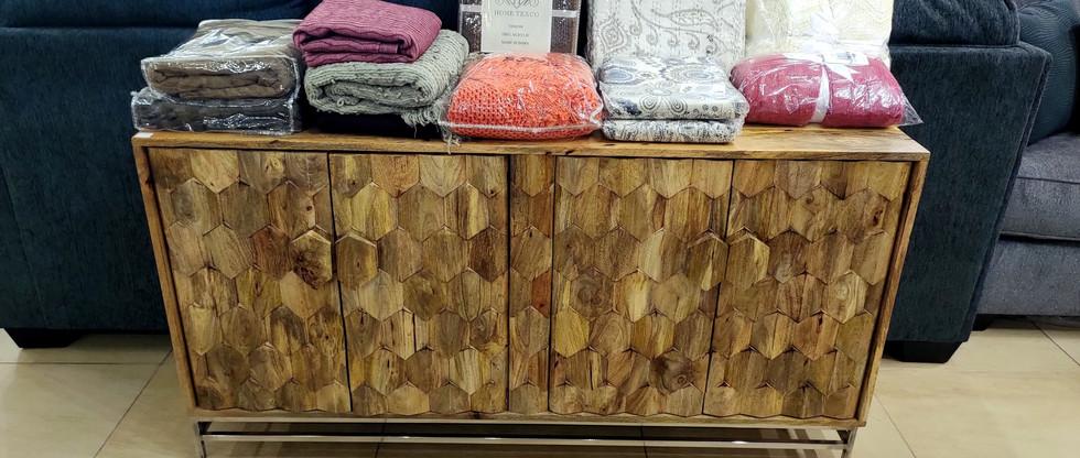 Mango Wood Accent Cabinet