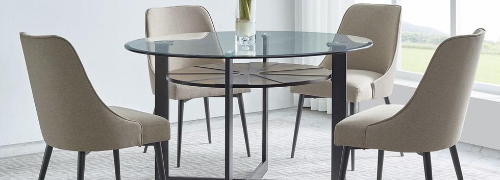 5-Piece Glass Top Dining Set