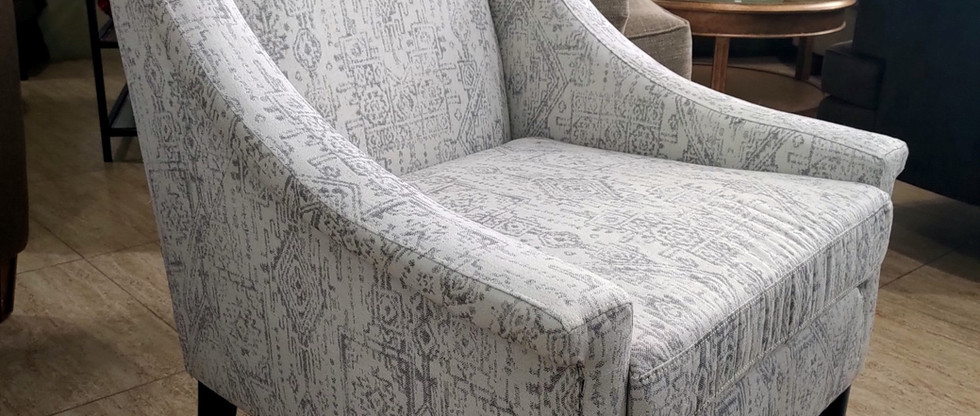 Upholstered Pattern Accent Armchair